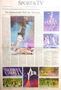 Zeitungsartikel: Die fantastische Welt des Turnens